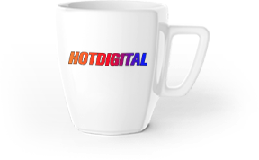 hot digital coffee mug